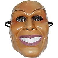 The Rubber Plantation TM 619219291873 The Purge Mask Male Face Design Halloween Fancy Dress, Unisex-Adult, One Size