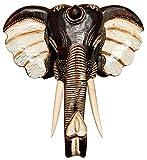 Unbekannt Schöne 40 cm Elefant Holz Maske Kopf Afrika Elephant Handarbeit Bali Maske48.40
