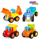 #10: Kids Choice Unbreakable Engineering Automobile Car Construction Machine Toys Set For Children Kids Tractor Trolly, Trucks and Jcb Machine (Set Of 4), Multi Color