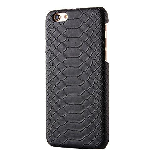 Pour iPhone 6 Plus / 6s Plus, Snakeskin Texture Hard Back Cover Housse de protection arrière YAN ( Color : Beige ) Black