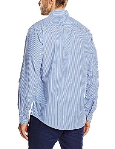 Tommy Hilfiger Herren Freizeithemd Ivy Stripe Blau - Shirt Blue