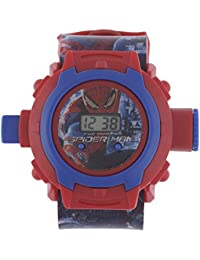 Shanti Enterprises Combo Sports Watch Multi Color Dial For Kids And Spiderman 24 Images Projector Watch
