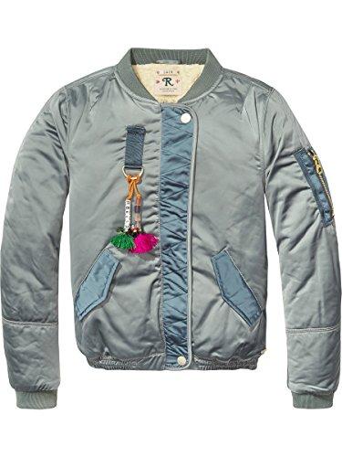 Scotch & Soda R'Belle Mädchen Teddy Satin Bomber Jacket Jacke, Blau (North Sea 487), 128