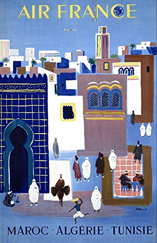 air-france-maroc-algerie-tunisie-wonderful-a4-glossy-art-print-taken-from-a-rare-vintage-travel-post