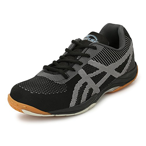 ProASE Men's Synthetic Badminton Shoes, 8UK ( PROASEBG10BLACK-8)