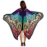 Schmetterlingsflügel Schal Sondereu Damen Schmetterling Wings Schals Nymphe Pixie Kostüm Zubehör 180 x145cm (10)