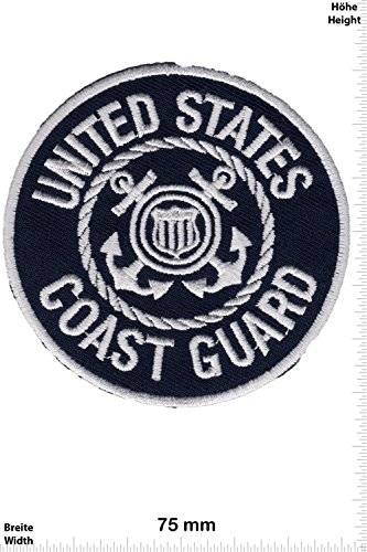 Patch - United States - COAST GUARD - USA - Military - U.S. Army - Air Force -Tactical - Arme - Bundeswehr - Militär - Patches - Aufnäher Embleme Bügelbild Aufbügler (Emblem Coast Guard)