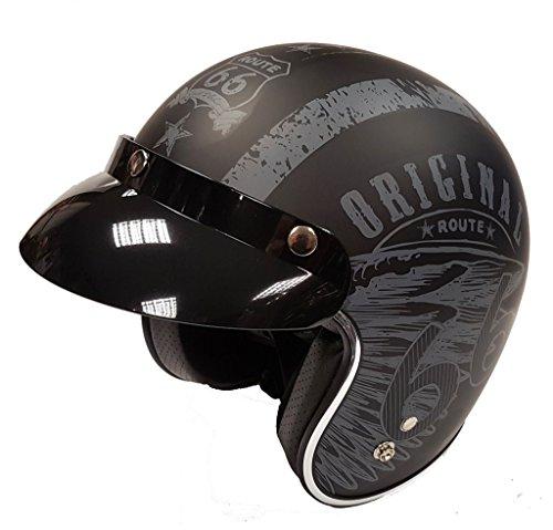 Viper RS-05Slim Skinny Fit Retro Custom Bobber Open Face casco de moto