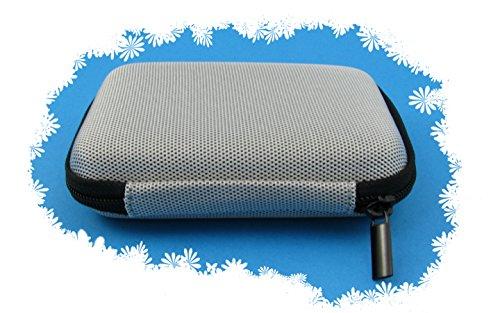 flashwoife EVA Nylon Case with board in silber Hartschalentasche Schutzhülle für externe Festplatten 2,5