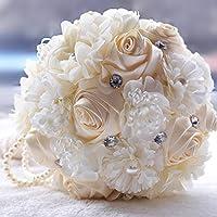Winhappyhome Handmade Rose e girasoli sposa azienda fiori matrimonio bouquet