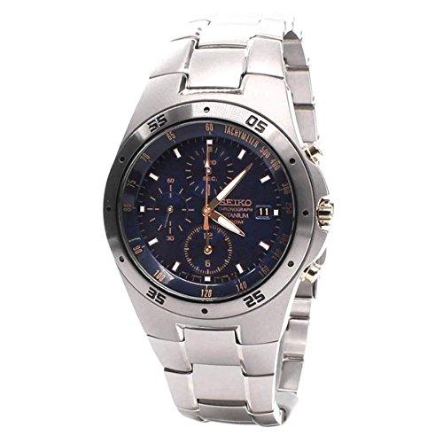 Seiko Men's SND449P1 Two Tone Titanium Chronograph Watch