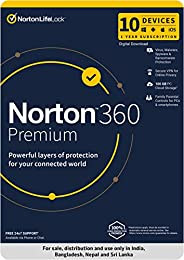 Norton 360 Premium |10 Users 1 Year |Total Security for PC, Mac, Android or iOS |Code emailed in 2 Hrs