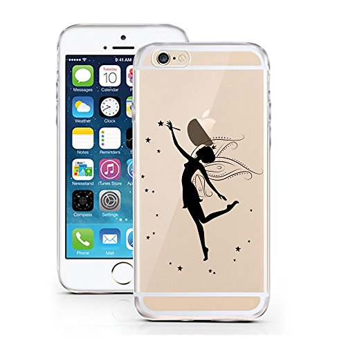 "licaso® iPhone TPU Hülle Disney Case Tinkerbell Butterfly Elfe Märchen transparent klare Schutzhülle Disney Hülle iphone6 Tasche Case (iPhone 6 6S 4.7"", Tinkerbell Butterfly) Tinkerbell Zauber"