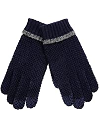 Elma Men's Wool Knitted Touch Screen Gloves Mitten for Smart Phone Iphone Ipad