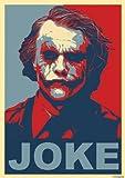 great-art Red Blue Poster Joke - 85 x 60cm Wandposter Joker Batman the dark knight why so serious Wandbild