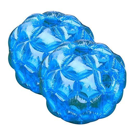 suyi 91,4 cm Durchmesser 0,9 m blau Buddy Bumper Ball aufblasbar Bubble Fußball, robust PVC Vinyl, Kids Erwachsene Outdoor Play Ball Games, 2er-Pack -
