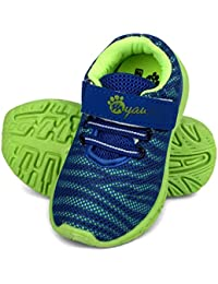MYAU Boys & Girls Velcro Running ShoesMYAU Kid's Boys & Girls Strips Printed Velcro Closure Running, Walking Shoes