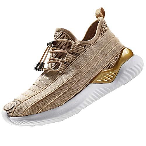 Chaussures de Course Femme Fitness Baskets Mode Fille Garçon Running Sneakers(Noir 35 EU)