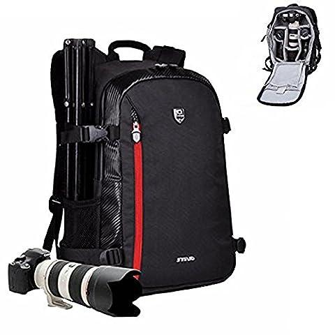 Goin Sac à dos pour appareil photo sac à dos pour appareil photo DSLR SLR Sac pour Appareil photo avec sangle pour Trépied pour Canon Nikon Sony Olympus Pentax et etc.