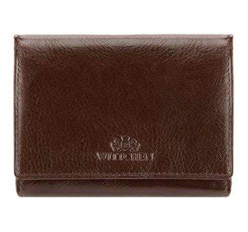 WITTCHEN Damen Portemonnaie Geldbörse, 2x12x9cm, Braun, Naturleder, Leder, Handmade, 21-1-071-L4 (Mädchen Von Fairy Tail)