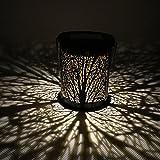 LEDMOMO LED Solar Laterne Hängende marokkanische Silhouette Solar Lichter mit Haken Outdoor Garten Beleuchtung für Innenhof Hof 2ST