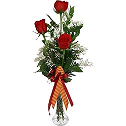 ROSAS DE SANT JORDI. 3 ROSAS ROJAS DE SANT JORDI. añade tu dedicatoria personalizada.