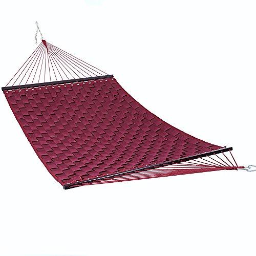 Trueshopping Outdoor Garten & Terrasse Doppel Hängematte 7& # 39; X 5& # 39; elfenbeinfarbene Swing Bett W/Beschläge inkl. Verlängerung Ketten und Aufhängen Haken Hergestellt für alle Wetter einsetzbar und ideal für Camping -