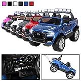 Kinder Elektroauto Ford Ranger MODELL 2018 Allrad 4x4 / 2x4 Lizenziert SUV 2 Personen 4 x 12 V 45 Watt (Total 180 Watt) (Blau lackiert)