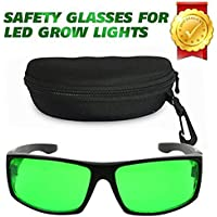 Derlights indoor Grow Light gafas, anti - UV, corrección de color, gafas protectoras para intensa iluminacion LED visual en cuarto de cultivo y efecto invernadero