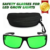 Derlights Indoor Grow Light Glasses ,Anti UV,Color Correction ,Protective Goggles for Intense LED lighting Visual In Grow Room & Greenhouse
