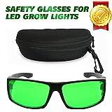 Derlights intérieur élèvent des verres légers, anti UV, correction de couleur, lunettes protectrices pour l'intense éclairage de LED visuel dans la salle de croissance et la serre