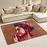 Coosun Femme africaine Portrait Zone Tapis Moquette antidérapant Tapis de sol Paillasson pour salon Chambre à coucher 91,4x 61cm, Tissu, multicolore, 36 x 24 inch