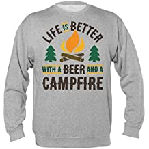 Life Is Better With A Bear And A Campfire Unisex Sweatshirt