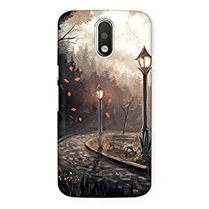 CrazyInk Premium 3D Back Cover for Moto G4 - NIGHT IN PARK