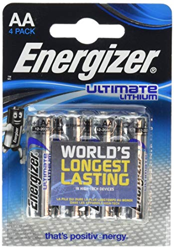 24 Energizer L91 Ultimate Lithium Mignon Batterie, 3000 mAh NEMT Pack