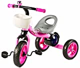 #9: Baybee Octroid Tricycle Kid's Trike Baby Tricycle/Bicycle with Basket & Musical Kid's Ride on Outdoor | Suitable for Boys & Girls-(1 to 5 Years)- Pink