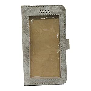 J Cover A11 Cloud Leather Carry Case Pouch Wallet S View For Lyf Flame 1 Cream