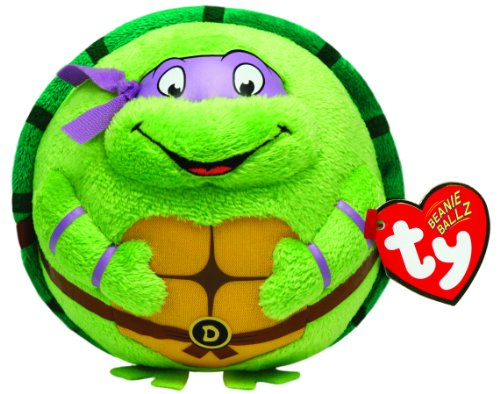 TY 7138257 - Teenage Mutant Ninja Turtles Ball - Donatello, Durchmesser 12 cm, Beanie (Ninja Teenage Mutant Turtles Violett)