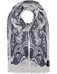 Fraas - Echarpe - Imprimé cachemire - Femme Bleu denim Taille unique bfe66de59c0