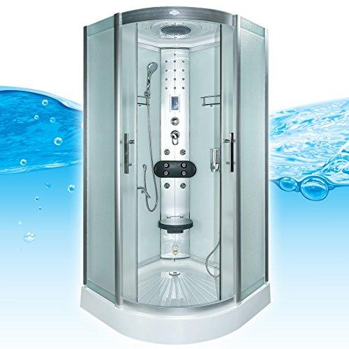 AcquaVapore DTP8058-6012 Dusche Dampfdusche Duschtempel Duschkabine 100x100 XL, EasyClean Versiegelung der Scheiben:2K Scheiben Versiegelung +89.-EUR