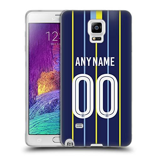 Head Case Designs Personalisierte Individuelle Manchester City Man City FC Away Kit 2018/19 Soft Gel Hülle für Samsung Galaxy Note 4 -