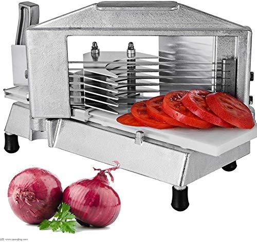 ZGYQGOO Kommerzielle Tomatenschneider 1/4 Zoll Heavy Duty Tomatenschneider manuelle Tomatenschneider mit eingebautem Schneidebrett für Restaurant oder zu Hause (Tomatenschneider) -