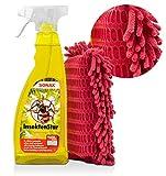 detailmate Set: SONAX InsektenStar 0.75L - Insektenentferner fürs Auto/Motorrad + insektenschwamm 2 Seiten: Insektenreinger - schonende Chenille Lamellen (InsektenStar+Insektenschwamm)