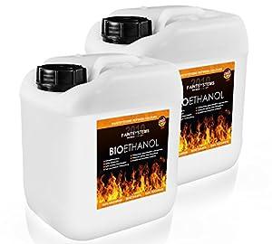 Bio Ethanol 96,6% unser Bio Ethanol ist ein Naturbrennstoff (Bioalkohol) mit einem Ethanolgehalt von 96,6 Vol.% und ist außen und innen vielseitig einsetzbar. Das Bio Ethanol ist ideal für Ethanolkamine, Alkoholbrenner, Terrassenfeuer, Raumfeuer, Sta...