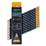 MONT MARTE Crayon HB - 12 pièces - Crayon Graphite idéal pour l'écriture, le dessin technique et le croquis - Parfait pour les Débutants, les Professionnels et Artistes - Set de Dessin Professionnel