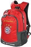 FC Bayern Backpacker Rucksack rot mit Ihrem Wunschtext in Ihrer Wunschfarbe (Glitzereffekt Gold)