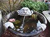 Steinfigur Wasserspeier Garten Deko-Gartenfigur Koi Teich