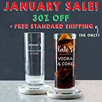 Personalised Highball Glass - Alcohol Gifts For Women / 21st Birthday Gifts For Her/Gin Rum Vodka Gifts For Women