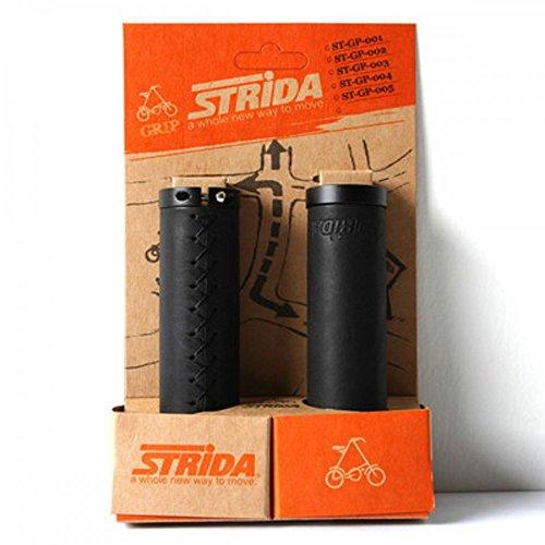 Preisvergleich Produktbild Original Satz Ledergriffe schwarz für STRIDA Fahrrad