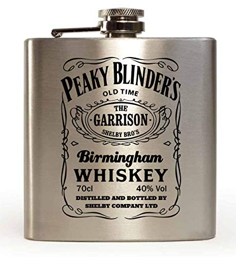 LapalDimension Garrison Birmingham Whiskey Peaky Blinders Inspired Petaca de 6 onzas